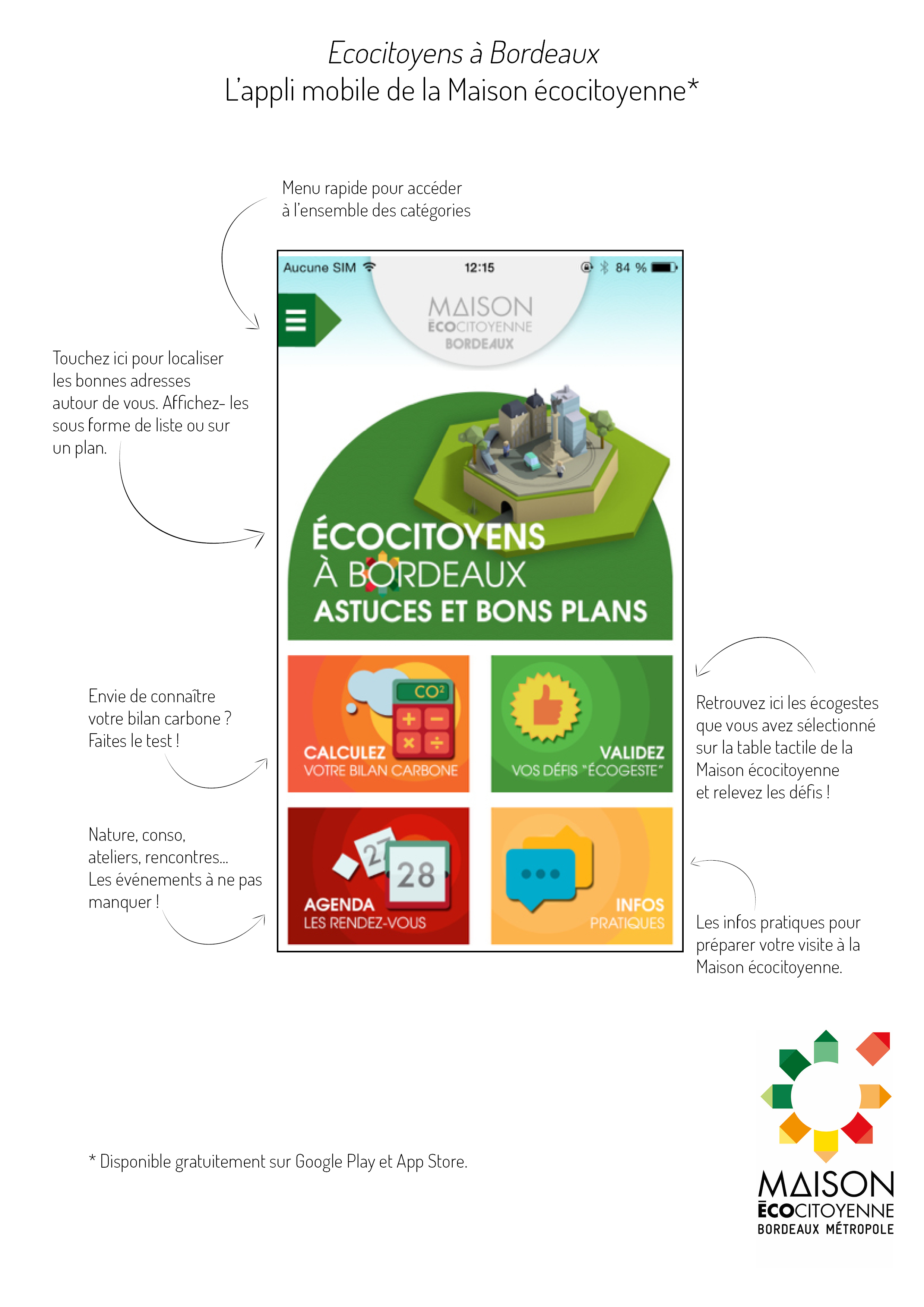 Comment utiliser l'application mobile de la Maison écocitoyenne